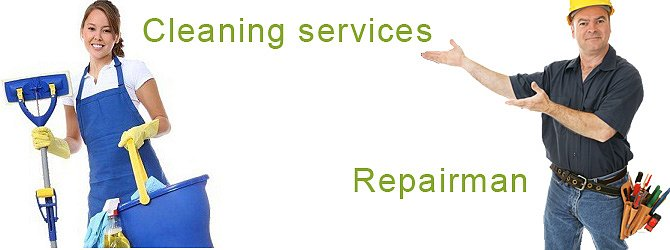 We can order cleaning lady or repairman for you.
