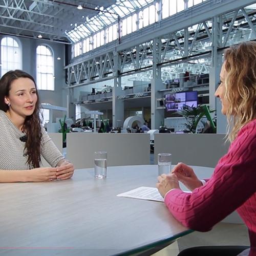 Spoluzakladatelka a CEO Andrea Tkačuková v DVTV